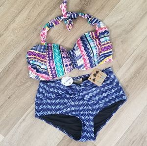 SWIMSUITS FOR ALL High Waist Bikini Set new
